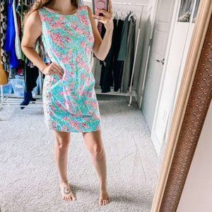 Lilly Pulitzer Delia Lobstah Roll Lace-Up Dress